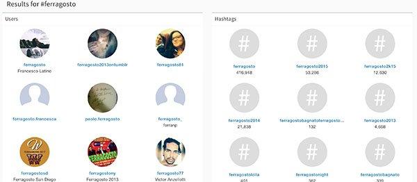 websta me - trovare hashtag