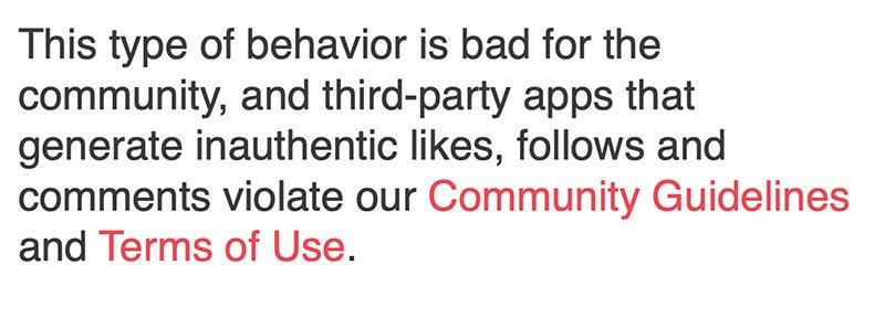 estratto comunicato stampa Instagram