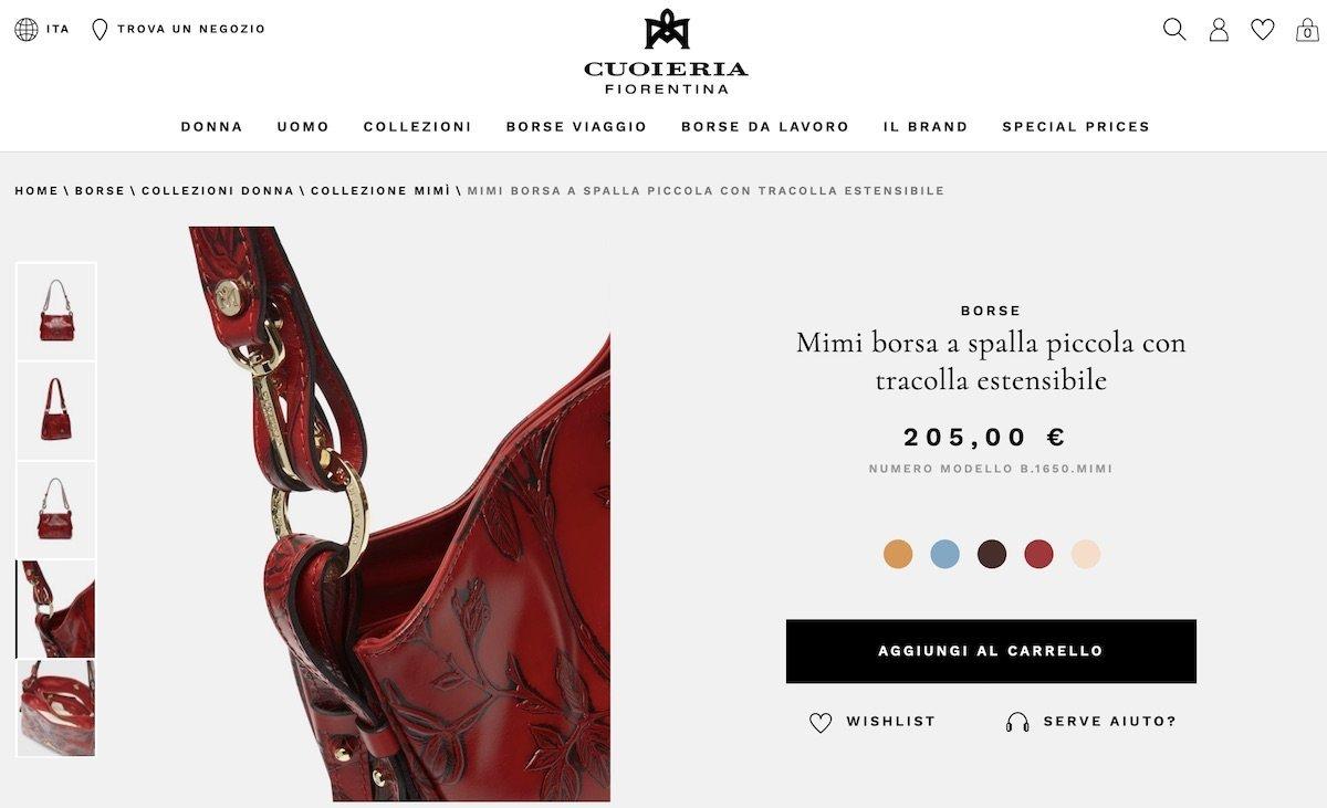 cuoieria fiorentina e-commerce