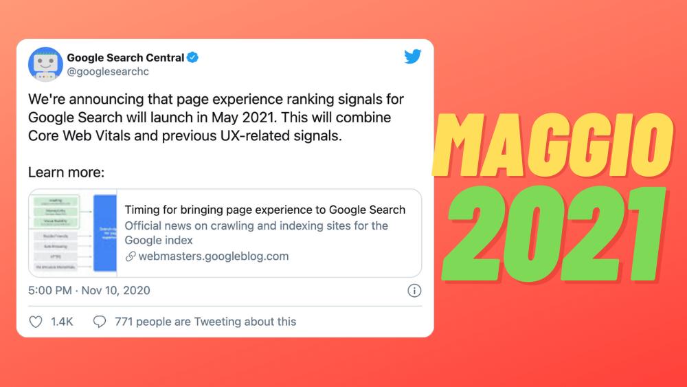 aggiornamento google maggio 2021