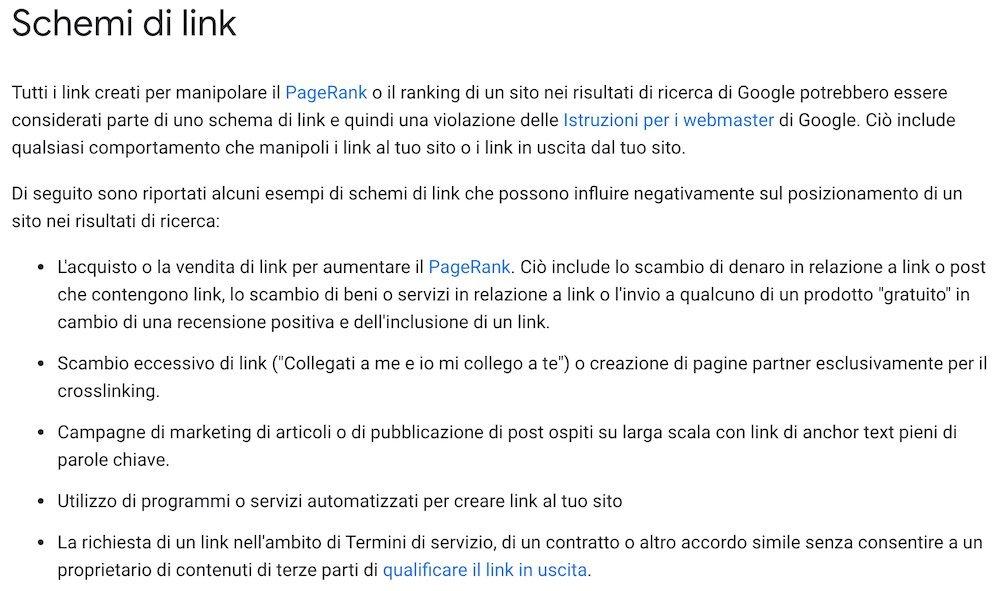 schemi di link google